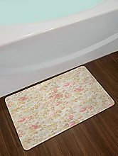 Tappetino da bagno vintage con motivo floreale