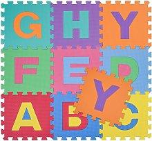 Tappetino Tappeto Puzzle Maxi lettere Colorati