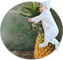 Tappetino tondo ananas Tappeto rotondo art decoro