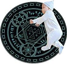 Tappetino tondo Astrolabio Tappeto rotondo art