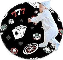 Tappetino tondo Fiches per poker Tappeto rotondo
