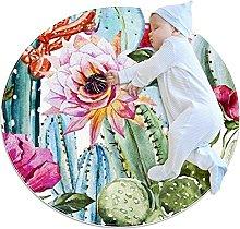 Tappetino tondo fiore di cactus Tappeto rotondo