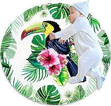 Tappetino tondo foglie tropicali di tucano Tappeto