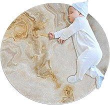 Tappetino tondo Marmo bianco giallo Tappeto