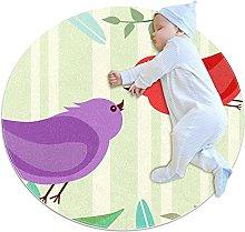 Tappetino tondo Uccello Tappeto rotondo art decoro