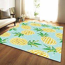 Tappeto Ananas di frutta blu giallo verde,Home
