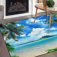 Tappeto antiscivolo da spiaggia tropicale per