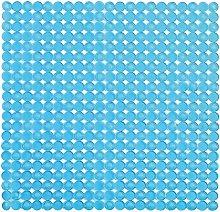 Tappeto Antiscivolo Doccia Azzurro 54 x 54 in PVC