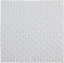 Tappeto Antiscivolo Doccia Bianco Trasparente 54 x