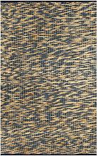 Tappeto Artigianale in Juta Blu e Naturale 80x160