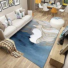 Tappeto Blu geometrico astratto Tappeti per area