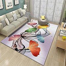 Tappeto con foglia di palma verde, tappeto runner