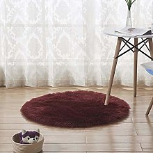 Tappeto Cucina,Round Soft Faux Sheepskin Fur Area