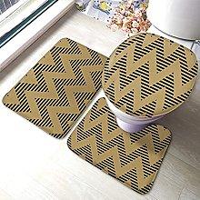Tappeto da bagno a zigzag con motivo a zigzag