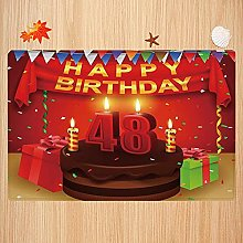 Tappeto da bagno antiscivolo 40X60cm,48th Birthday