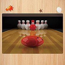 Tappeto da bagno antiscivolo 40X60cm,Bowling Party