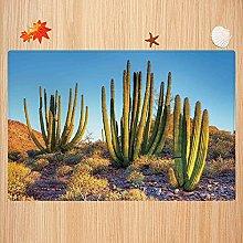 Tappeto da bagno antiscivolo 40X60cm,Cactus Decor,