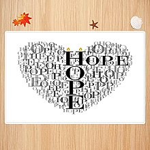 Tappeto da bagno antiscivolo 40X60cm,Hope, Heart