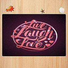 Tappeto da bagno antiscivolo 40X60cm,Live Laugh
