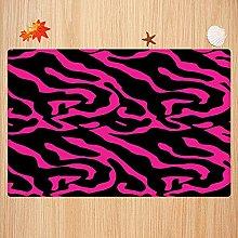 Tappeto da bagno antiscivolo 40X60cm,Pink Zebra,