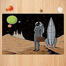 Tappeto da bagno antiscivolo 50X80 cm,Astronauta,
