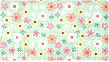 Tappeto da bagno antiscivolo con motivo a fiori
