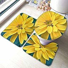 Tappeto da bagno antiscivolo, con motivo floreale,