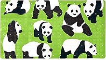 Tappeto da bagno antiscivolo con motivo panda