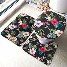 Tappeto da bagno antiscivolo con stampa floreale,