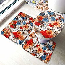 Tappeto da bagno antiscivolo con stampa floreale