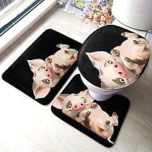 Tappeto da bagno antiscivolo con stampa maiale, 3