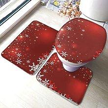 Tappeto da bagno antiscivolo con stampa natalizia,
