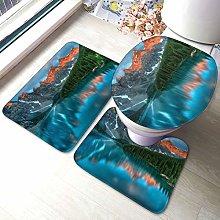 Tappeto da bagno antiscivolo con stampa parco, 3