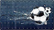 Tappeto da bagno antiscivolo da calcio in stile