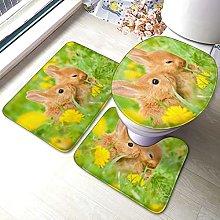 Tappeto da bagno antiscivolo, motivo coniglio