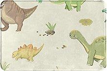 Tappeto da bagno carino dinosauro vintage tigri