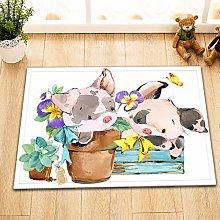 Tappeto da bagno con animali da fattoria ad