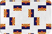 Tappeto da bagno con bandiera Arizona geometrica
