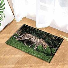 Tappeto da bagno con leopardo selvatico che