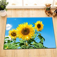 Tappeto da bagno Sunflower Blue Sky, antiscivolo,