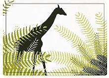 Tappeto da bagno50x80cm, Africa, Silhouette di