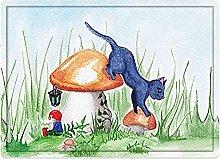 Tappeto da bagno50x80cm, Animale, Piccolo gatto