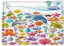 Tappeto da bagno50x80cm, Animali tropicali,