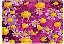 Tappeto da bagno50x80cm, Astratto, Fiori Cartoon