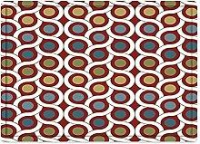 Tappeto da bagno50x80cm, Astratto, geometrico