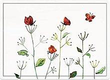 Tappeto da bagno50x80cm, Butterfly, Wildflower