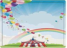 Tappeto da bagno50x80cm, Circus Decor, Circus