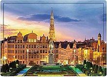 Tappeto da bagno50x80cm, Cityscape, Brussels
