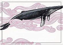 Tappeto da bagno50x80cm, Decorazione balena,