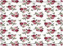 Tappeto da bagno50x80cm, Decorazioni di rose,